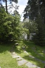 Trädgården till Alvar Aaltos studio.