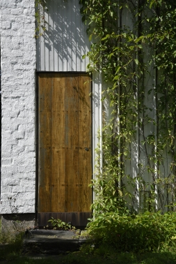 Spaljé i Alvar Aaltos trädgård.